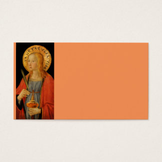 Saint Lucy Lucia c1470 Business Card