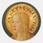 Saint Lucy Lucia c1470 Classic Round Sticker