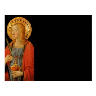Saint Lucy Lucia c1470 Post Card
