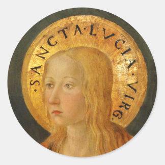 Saint Lucy Lucia c1470 Round Stickers