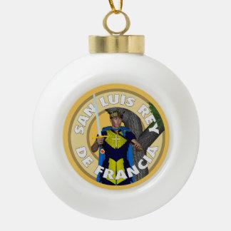Saint Luis Rey de Francia Ceramic Ball Christmas Ornament