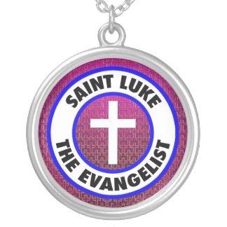 Saint Luke the Evangelist Silver Plated Necklace