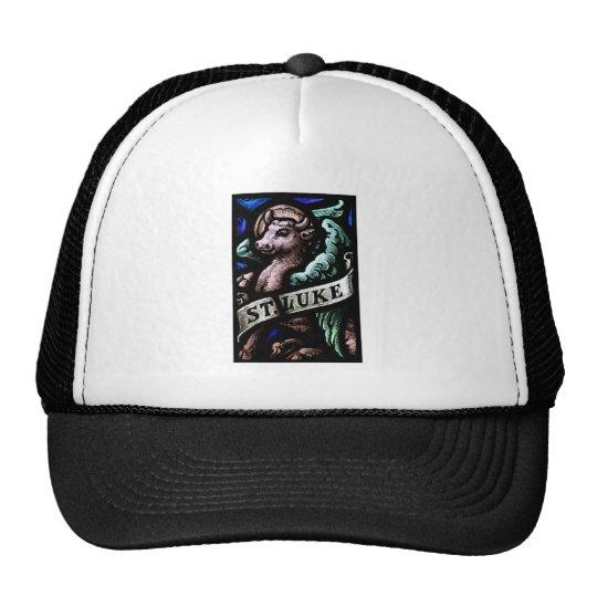Saint Luke the Evangelist  Stained Glass Art Trucker Hat