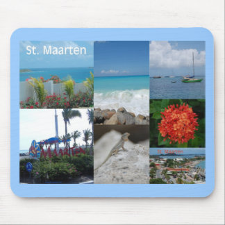 Saint Maarten Photo Collage by Khoncepts Mouse Pad