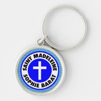 Saint Madeleine Sophie Barat Silver-Colored Round Keychain