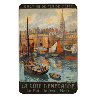 Saint Malo France - Vintage French Travel Poster Rectangular Photo Magnet