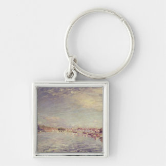 Saint-Mammes, 1885 Silver-Colored Square Keychain