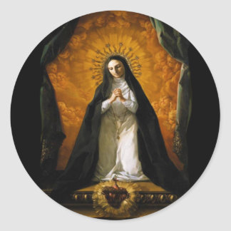 Saint Margaret Mary Alacoque Heart - Giaquinto Classic Round Sticker