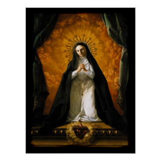 Saint Margaret Mary Alacoque Heart - Giaquinto Poster