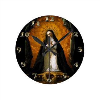 Saint Margaret Mary Alacoque Heart - Giaquinto Round Clock