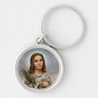 Saint Maria Goretti Lily Girl Keychain