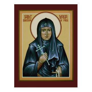 Saint Maria of Paris Prayer Card Postcard