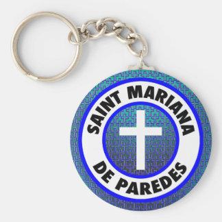 Saint Mariana De Paredes Basic Round Button Keychain