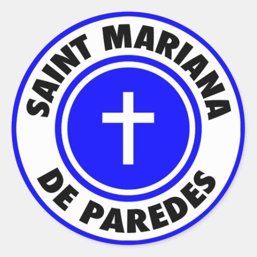 Saint Mariana De Paredes Classic Round Sticker