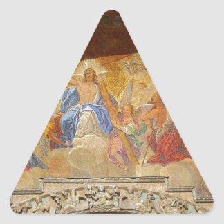 Saint Mark's Cathedral and Piazza Venice Italy Triangle Stickers