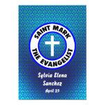 "Saint Mark the Evangelist Invite 5"" X 7"" Invitation Card"