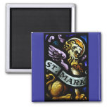 Saint Mark The Evangelist Stained Glass Art Refrigerator Magnet