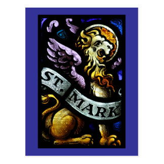 Saint Mark The Evangelist Stained Glass Art Postcard