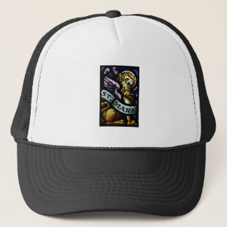 Saint Mark The Evangelist Stained Glass Art Trucker Hat