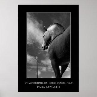 SAINT MARK'S HORSE, VENICE, ITALY POSTER