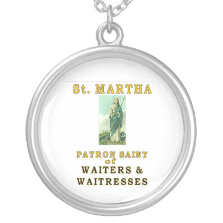 SAINT MARTHA SILVER PLATED NECKLACE