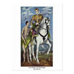 Saint Martin And The Beggar By Greco El Post Card