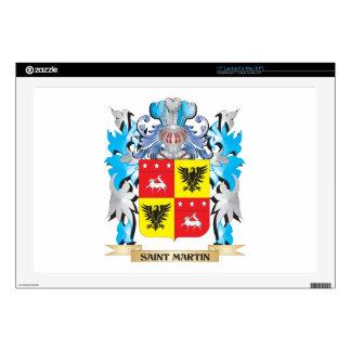 Saint-Martin Coat of Arms - Family Crest Skins For Laptops