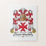 Saint-Martin Family Crest Puzzle