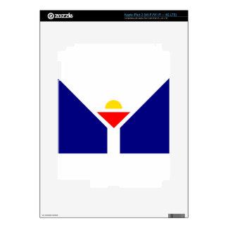 saint-martin-Flag Skin For iPad 3