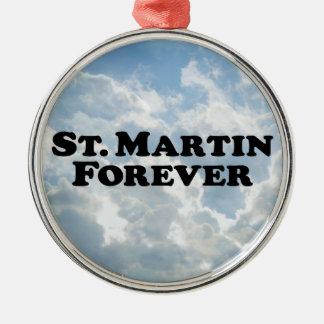 Saint Martin Forever - Basic Round Metal Christmas Ornament