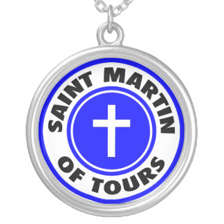 Saint Martin of Tours Silver Plated Necklace