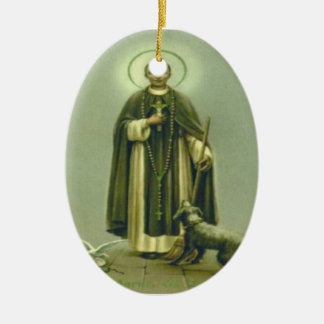 Saint Martin Prayer Ceramic Ornament