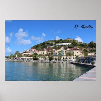 Saint Martin (St. Maarten) Coast photo Poster