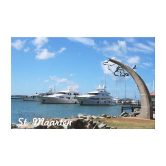 Saint Martin (St. Maarten) Yachts and Coast photo Canvas Print
