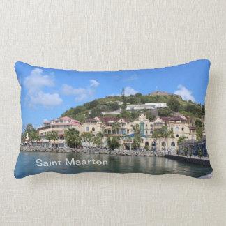 Saint Martin (St. Maarten) Yachts and Coast photo Lumbar Pillow