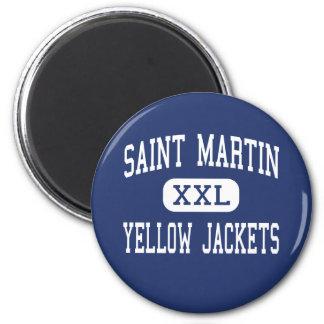 Saint Martin - Yellow Jackets - Ocean Springs Fridge Magnets