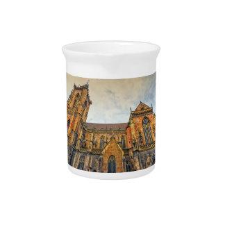 Saint Martin's Church, Colmar, France Beverage Pitcher