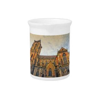 Saint Martin's Church, Colmar, France Drink Pitcher