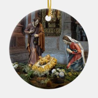 Saint Mary, Jesus and Saint Joseph in Jeronimos Ceramic Ornament