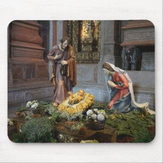 Saint Mary, Jesus and Saint Joseph in Jeronimos Mouse Pad