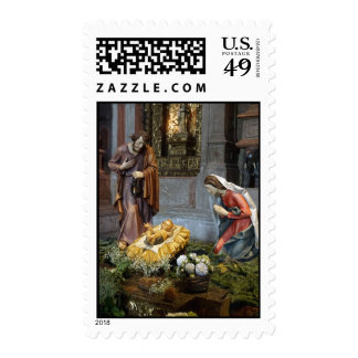 Saint Mary, Jesus and Saint Joseph in Jeronimos Postage