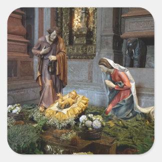 Saint Mary, Jesus and Saint Joseph in Jeronimos Square Sticker