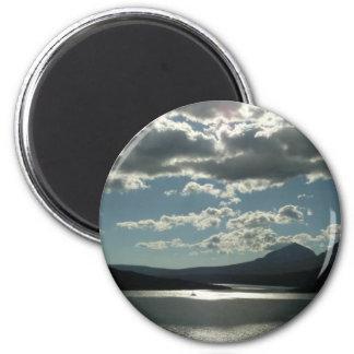 Saint Mary Lake I at Glacier National Park 2 Inch Round Magnet