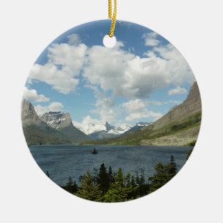 Saint Mary Lake II at Glacier National Park Ceramic Ornament