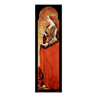 SAINT MARY MAGDALENE 2 Gold,Red ,Black Poster
