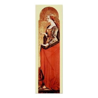 SAINT MARY MAGDALENE 2 Gold,Red Poster