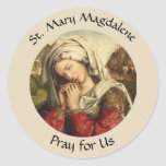 Saint Mary Magdalene Feast Day July 22 Classic Round Sticker