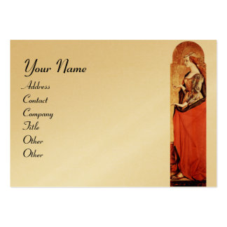SAINT MARY MAGDALENE Gold Metallic Large Business Card