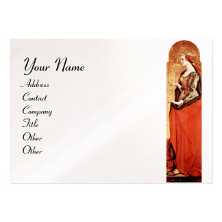SAINT MARY MAGDALENE Gold ,Red,White Pearl Paper Large Business Card