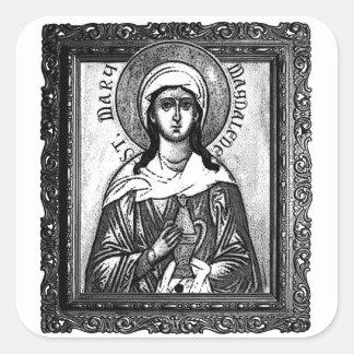 "Saint Mary Magdalene - matte stickers 3"" (6)"